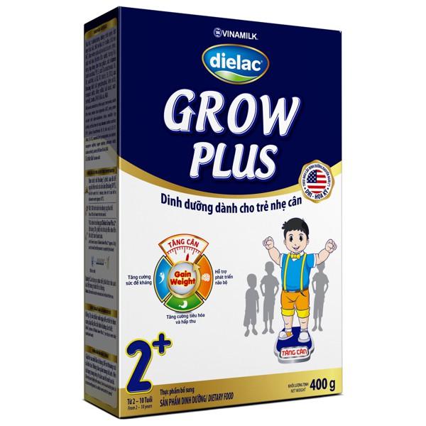 [TKB0718W3B-giảm3%-tốiđa20k] Sữa Bột Dielac Grow Plus 2+ 400gr XANH: Hộp Giấy