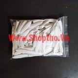 Đầu bịt nhựa khoan chéo màu trắng (túi 100c)