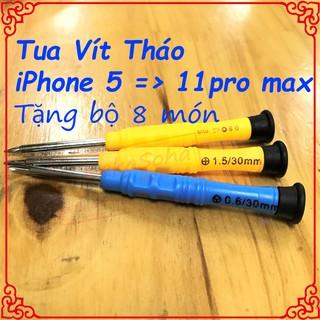 [FREESHIP] Tua vít mở điện thoại ip 5 đến 11pro max, tặng kèm 1 bộ 8 món.