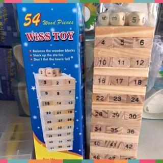 mua ngay ✪ ĐỒ CHƠI Bộ trò chơi rút gỗ 54 thanh ✫