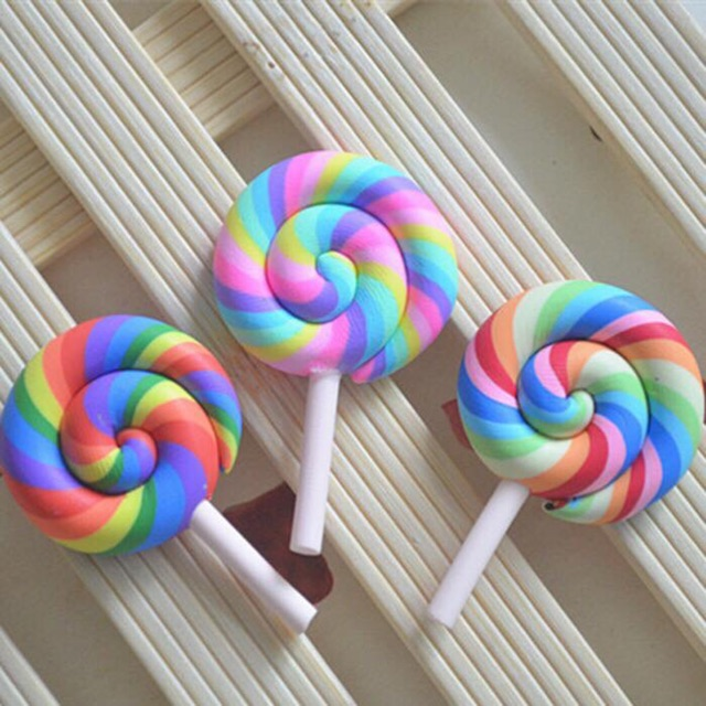 Charm kẹo lolipop - charm trộn slime, nguyên liệu decoden