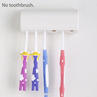 2/6 Grids Toothbrush Holder ABS Resin Bathroom Durable Hygienic With Protecting Cover