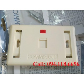 Mặt nạ outlet 1 cổng CommScope màu trắng sữa ( hàng nhập khẩu)