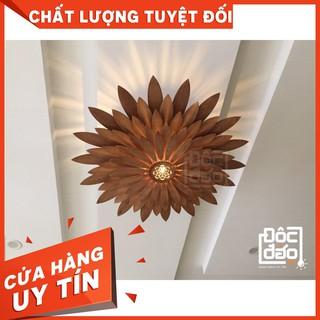 Đèn gỗ thả trần cao cấp hoa hướng Dương cỡ lớn dương D360-TT59A