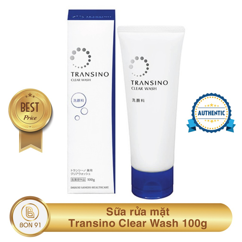 Sữa rửa mặt Transino Clear Wash 100g | Shopee Việt Nam