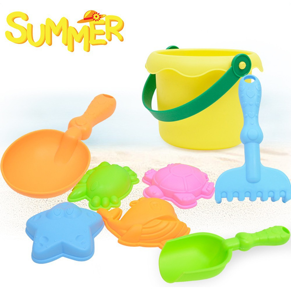 8 Pcs Baby Kids Beach Toys Swimming Wash Play Cartoon Colorful Cute Toys