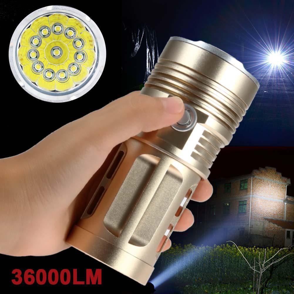 Đèn Pin LED siêu sáng 12 LED 36000 Lumen CREE XML T6