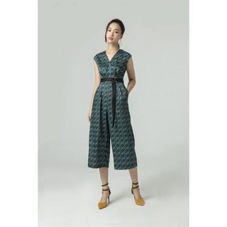 IVY moda Áo liền quần cổ chữ V họa tiết nữ MS 18M5244 thumbnail