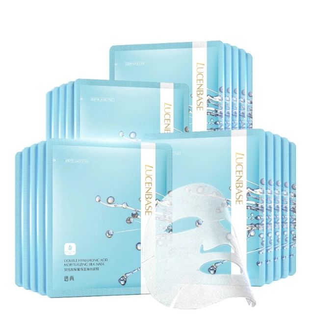 Lucenbase - Mặt nạ tơ tằm HA cấp nước dưỡng ẩm gấp 2 lần