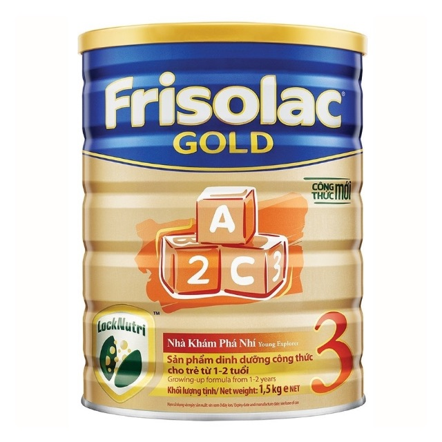Sữa Frisolac gold 3 1.5kg(cho bé từ1-2tuổi )