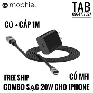 [Mã ELMSBC giảm 8% đơn 300K] Bộ Sạc Nhanh 20w Cho IPhone Mophie Chính Hãng - Bảo Hành 12T