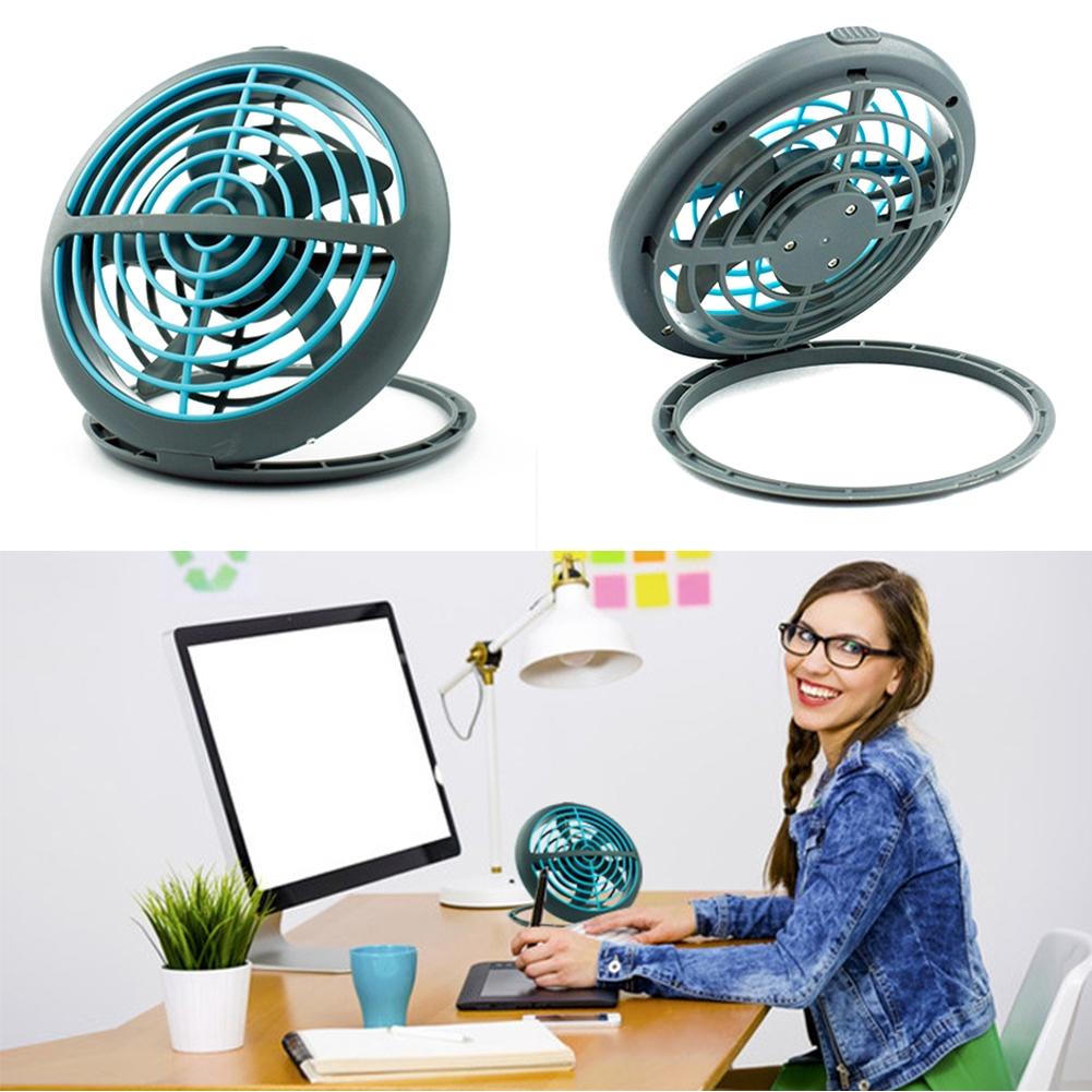 Home Gift Summer Desktop Mini Office Cooling Foldable Adjustable Angle USB Fan