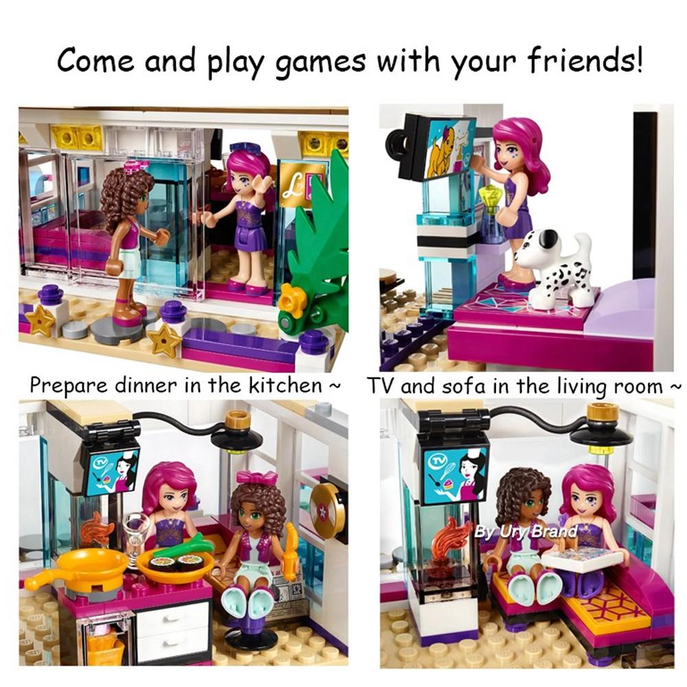 Bộ Đồ Chơi Lego Lắp Ráp Ngôi Nhà / Thỏ / Ngôi Nhà / Tv / Nhà Cho Bé Gái Diy