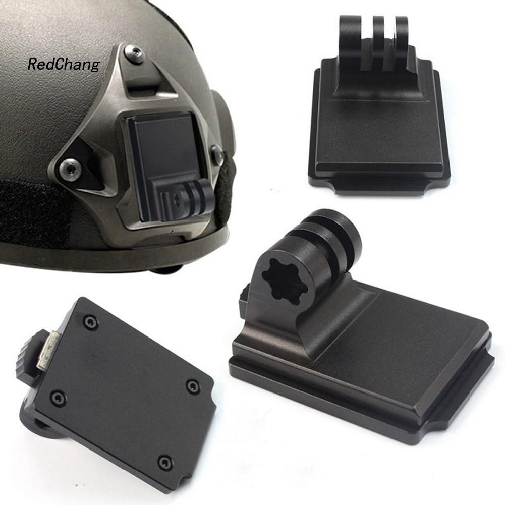 ☣RDCG☣Aluminium Alloy Fixed Helmet Adapter Base Camera Accessory for GoPro 3 NVG Mount