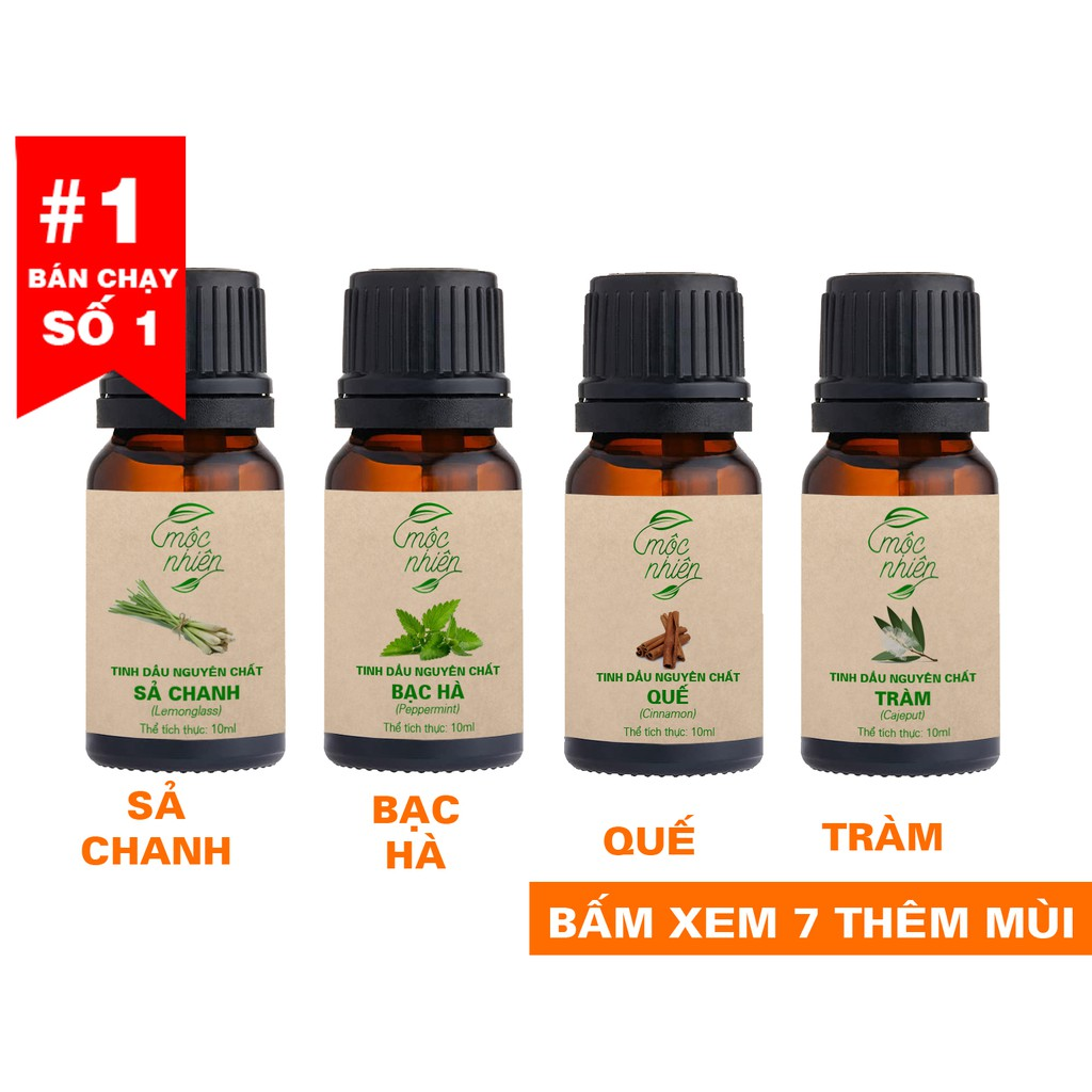 Tinh dầu Mộc Nhiên nguyên chất có kiểm định nhiều mùi
