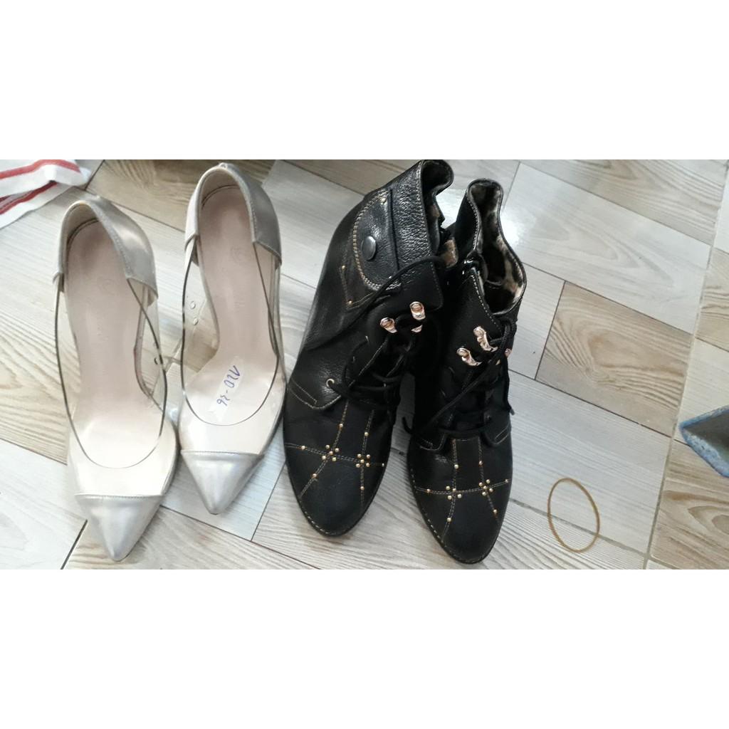 Combo bốt và giày hàng si Quỳnh Ngân