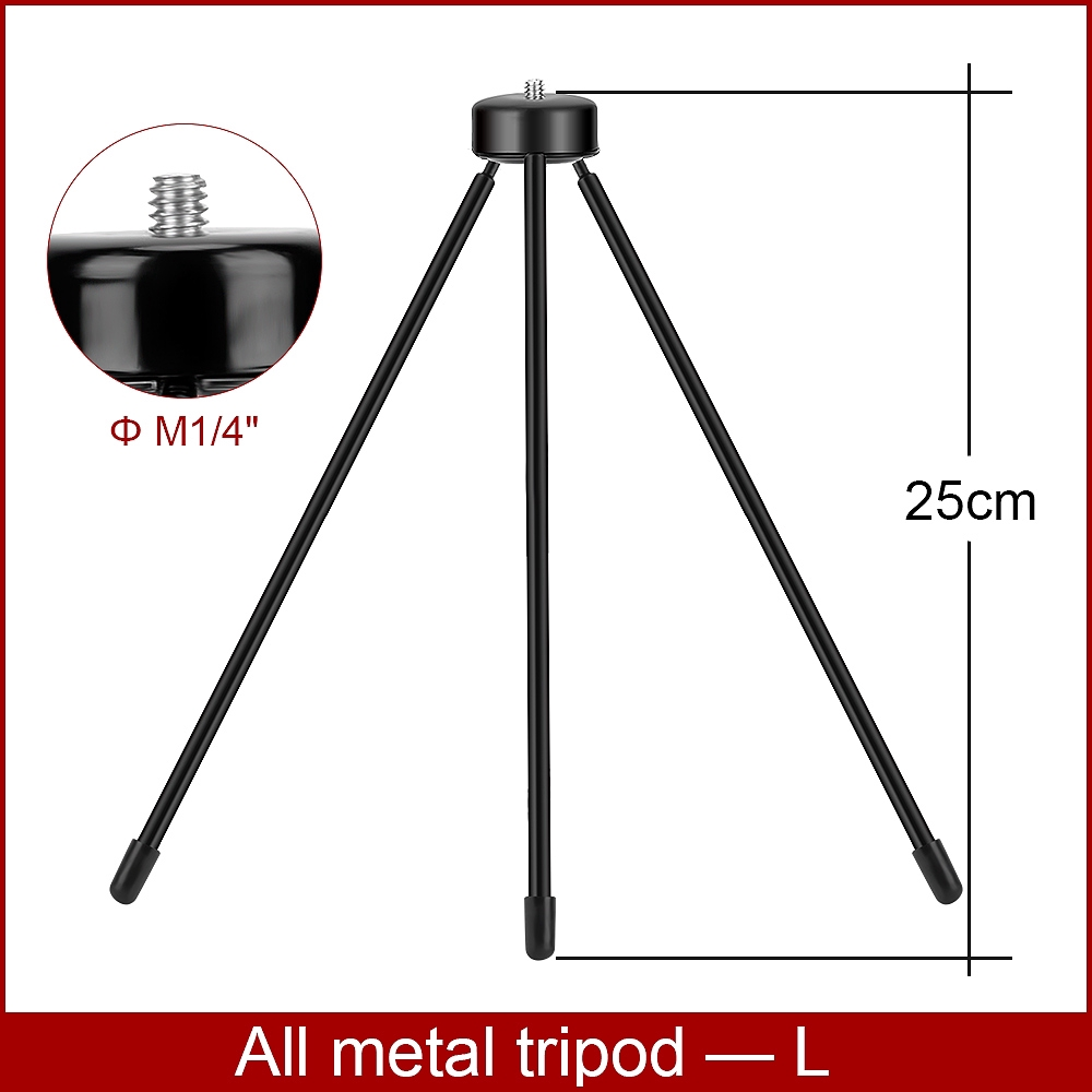 Giá đỡ bằng kim loại 3 chân để bàn thiết kế có vòng sáng hỗ trợ chụp hình selfie/quay phim tiện dụng