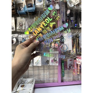 [THANH LÝ GIÁ SHOCK] Sticker hologram EXO KAI, Chanyeol, Sehun, Chen, Baekhyun