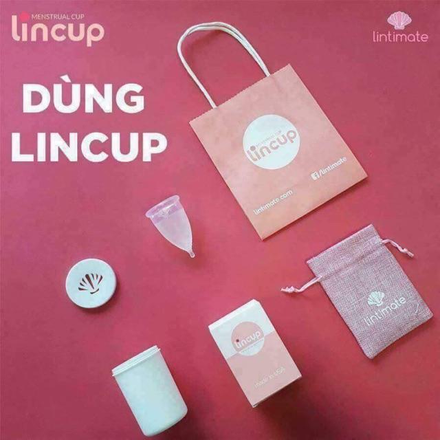 Cốc nguyệt san Lincup - Tặng Cốc tiệt trùng + Túi vải