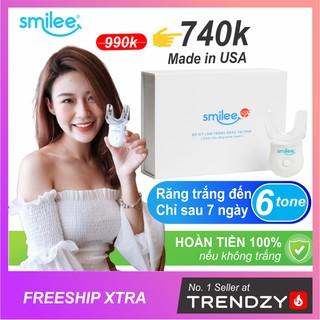 [Freeship +Quà🎁+⚡25%] Bộ tẩy trắng răng tại nhà Smilee – Nhập khẩu USA – Làm trắng răng từ 3-6 tone chỉ với 20 phút