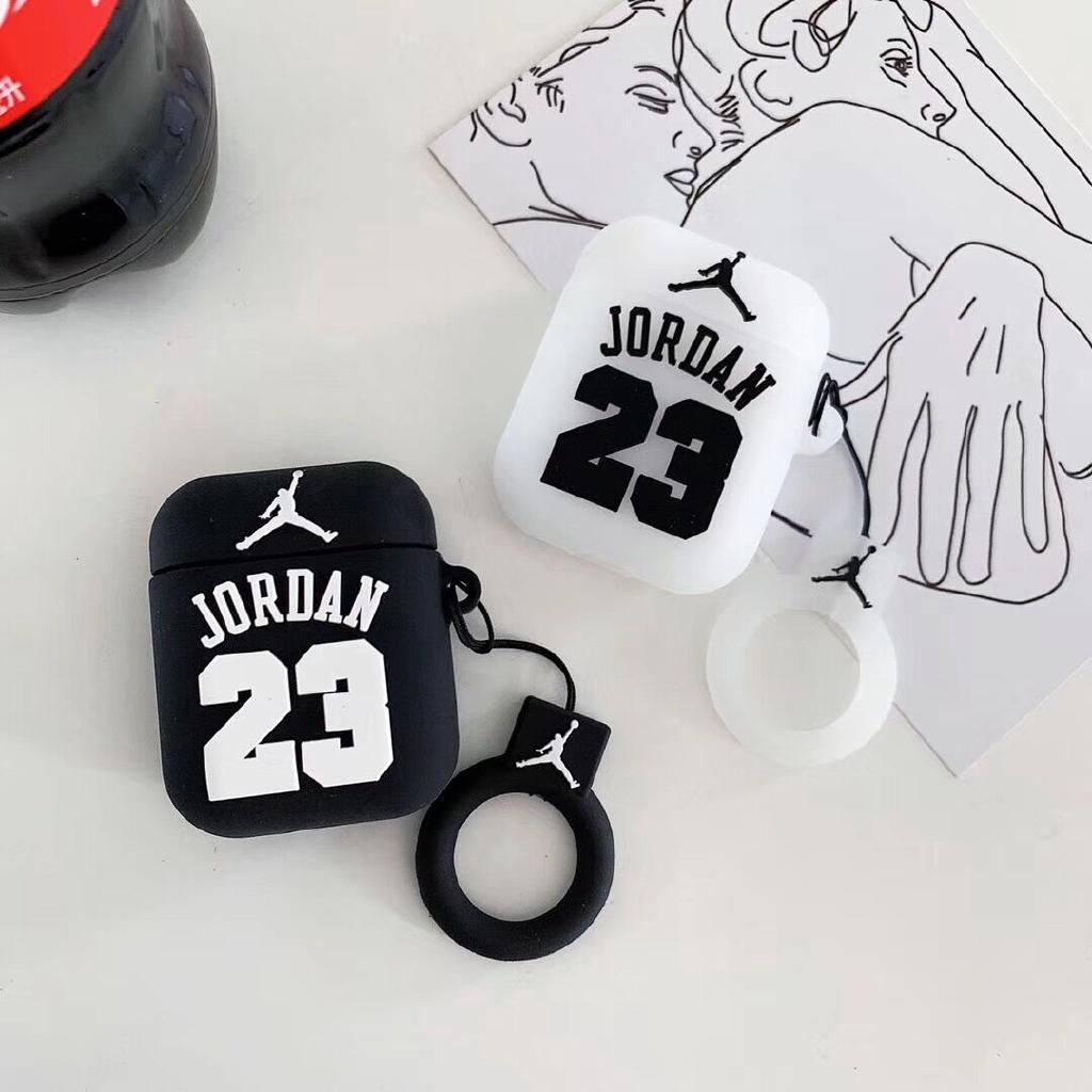 Vỏ Bảo Vệ Hộp Sạc Tai Nghe Airpod Hình Logo Jordan 3d Bằng Cao Su Mềm