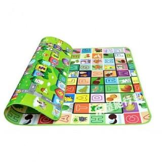 Thảm cotton mút xốp thông minh trải sàn, 2 mặt cho bé: kích thước 2,2m x 2m