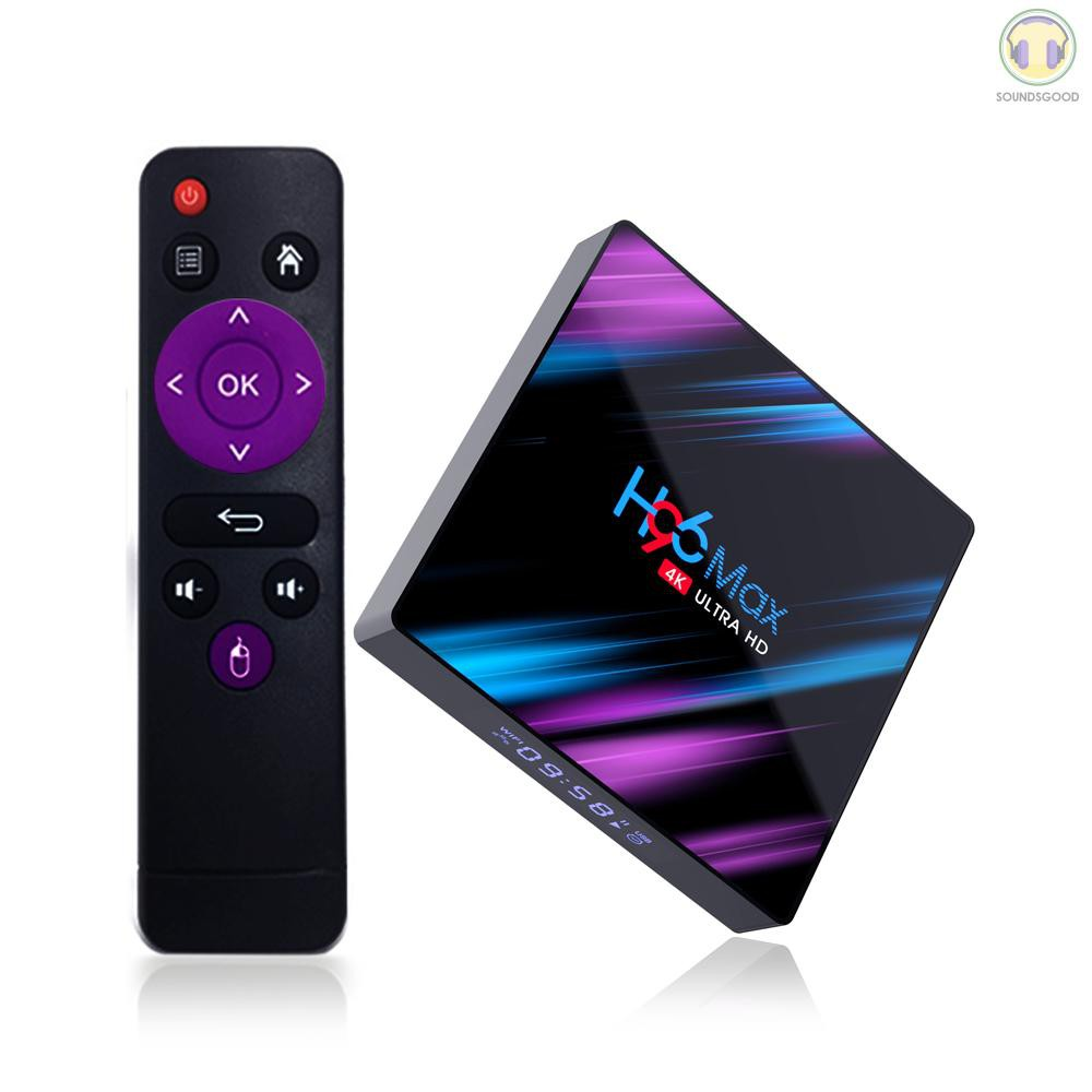 ♫ SG H96 Max Smart Android 9.0 TV Box RK3318 Quad Core 64 Bit UHD 4K VP9 H.265 4GB / 32GB 2.4G / 5G WiFi BT4.0 HD Media
