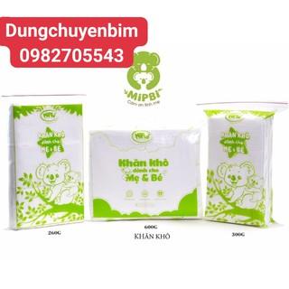 MIPBI - Khăn vải khô đa năng dành cho mẹ và bé Mipbi 260g 300g 600g - HÀNG CHÍNH HÃNG