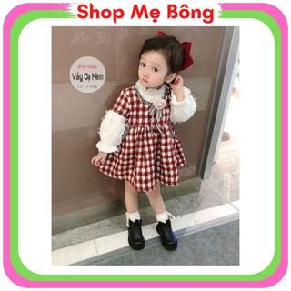 Váy Dạ Mềm Bé Gái Phối Áo Vải Lông - Shop Mẹ Bông