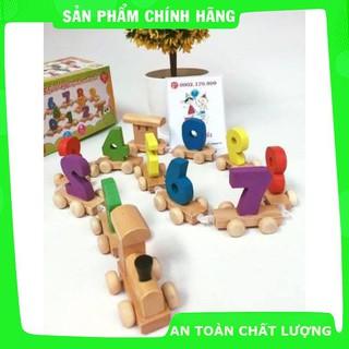 [Giảm giá] [Mã TOYSEP giảm 10% tối đa 15K đơn bất kỳ] Đoàn tàu số – đồ chơi giáo dục gỗ an toàn (loại đẹp)