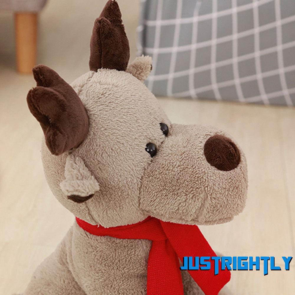 Jry₪Cute Christmas 28cm Elk Doll Plush Toy Christmas Child Doll Xmas Gifts for Girls