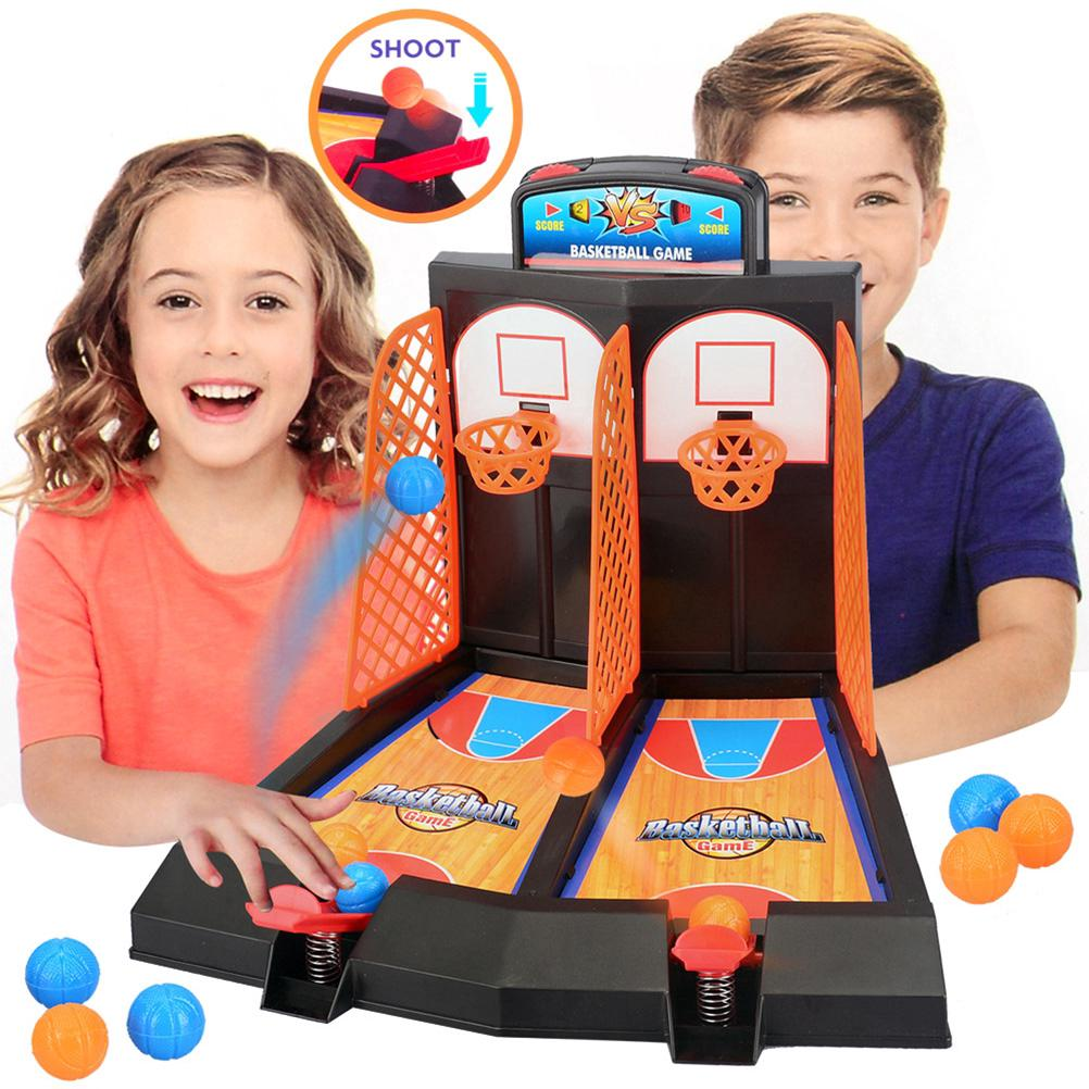 Desktop Basketball Mini Finger Basket Toy Sports Child Table Games Double Play Interaction Toy