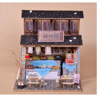Mô hình nhà búp bê gỗ – Tiệm bánh ngọt ngày xuân