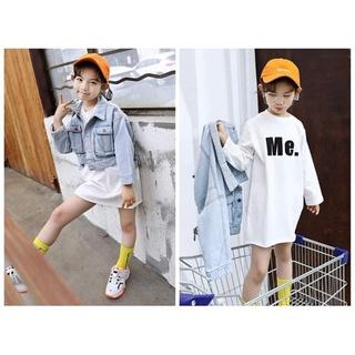 Đầm + áo khoác jean sale:#220k