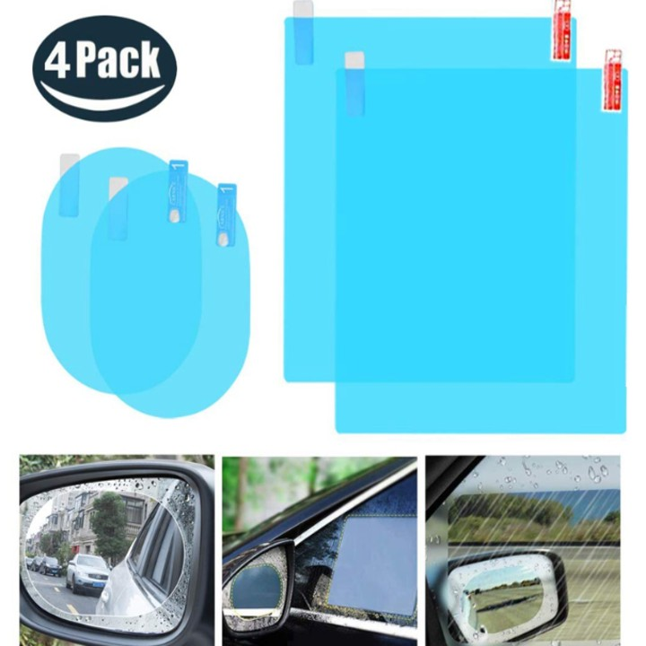 Bộ 4 miếng dán chống đọng nước kính hông và gương chiếu hậu ô tô ...