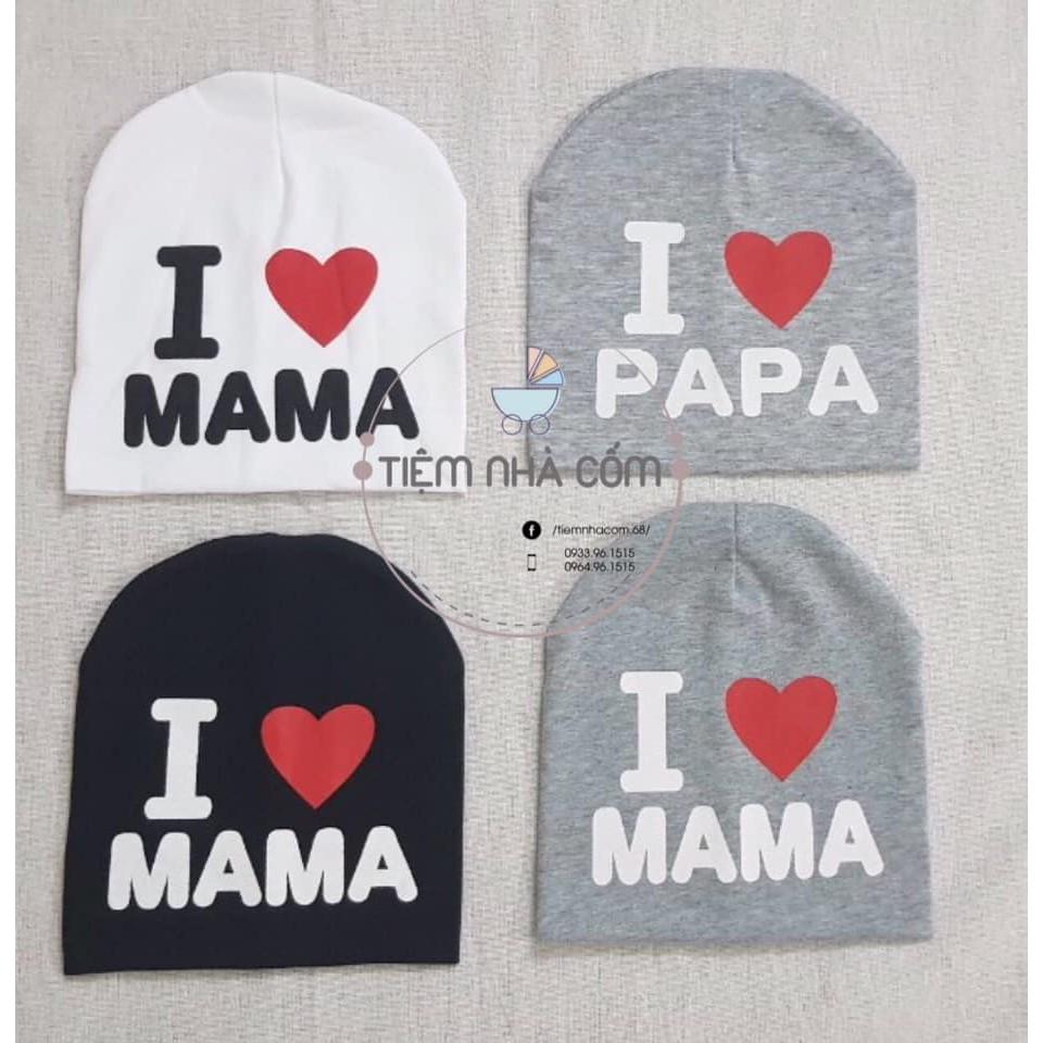 Mũ Papa & Mama (Hình chụp thật sản phẩm)