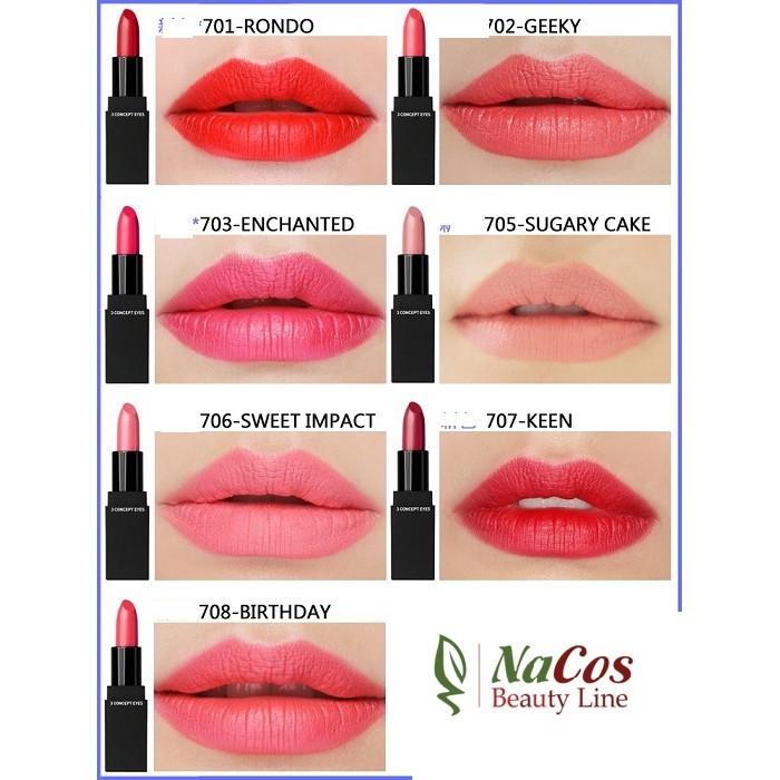 [ Hàng chính hãng] Son thỏi siêu mịn bền màu 3CE lip color