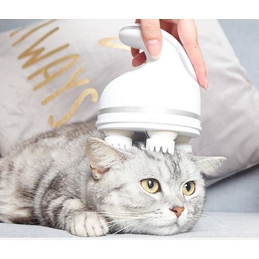 Máy massage đầu trị liệu thư giãn, giảm căng thẳng dùng cho cả thú cưng mèo chó và người