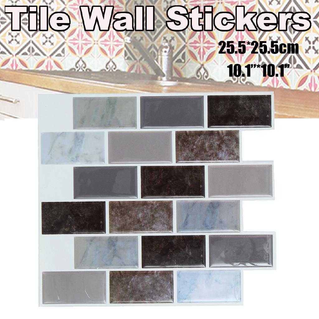 Miếng dán tường trang trí nội thất chống thấm nước , kích thước 25.5x25.5cm