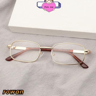 ROW Vision Care Reading Glasses High-definition Eyeglasses Presbyopic Glasses Portable Metal Unisex Eyewear PC Frames