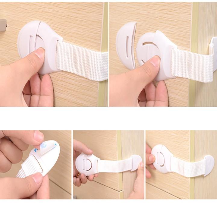 Bộ 3 khóa tủ chống kẹp tay cho bé ( tủ lạnh, ngăn kéo, tủ 2 cánh)