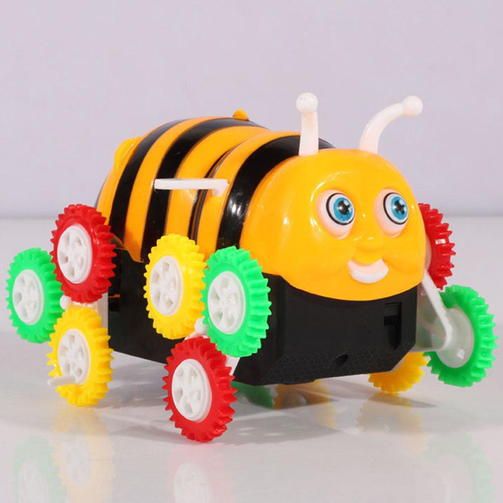 Baby Electric Flip Stunt Colorful Armored Mini Cute Kids Bee Automatic Animal Toy Car
