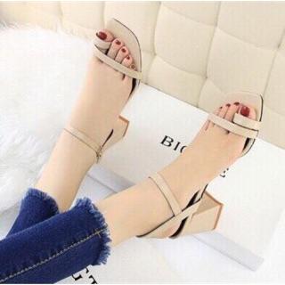 Giày nữ cao gót quai mảnh xỏ ngón 5cm hàng Việt Nam xuất khẩu