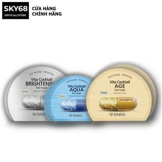 Combo 10 Mặt nạ dưỡng da BNBG Vita Cocktail Foil Mask 30ml X 10 ( AQUA, AGE, Brightening) thumbnail