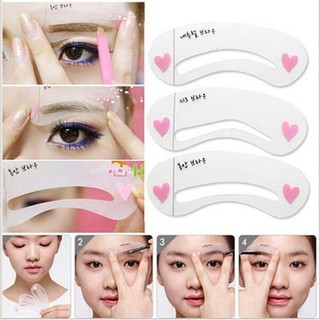 Set 3 khuôn kẻ lông mày phong cách Hàn Quốc đẹp 2160 Đức Tài
