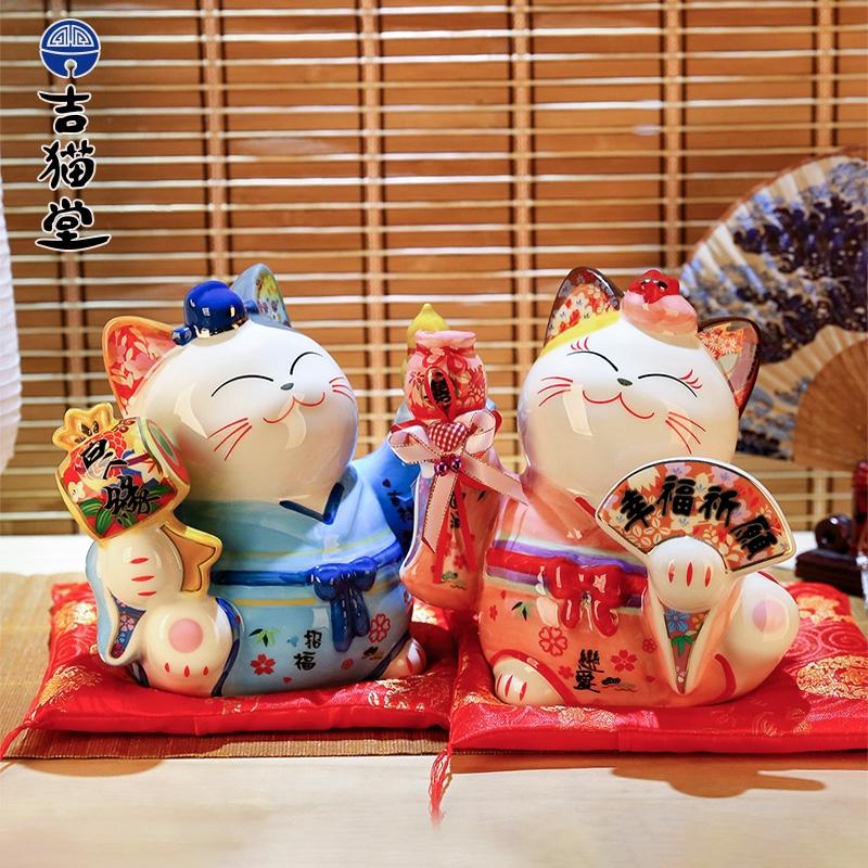Mô Hình Chú Mèo May Mắn Trang Trí Tiệc Cưới