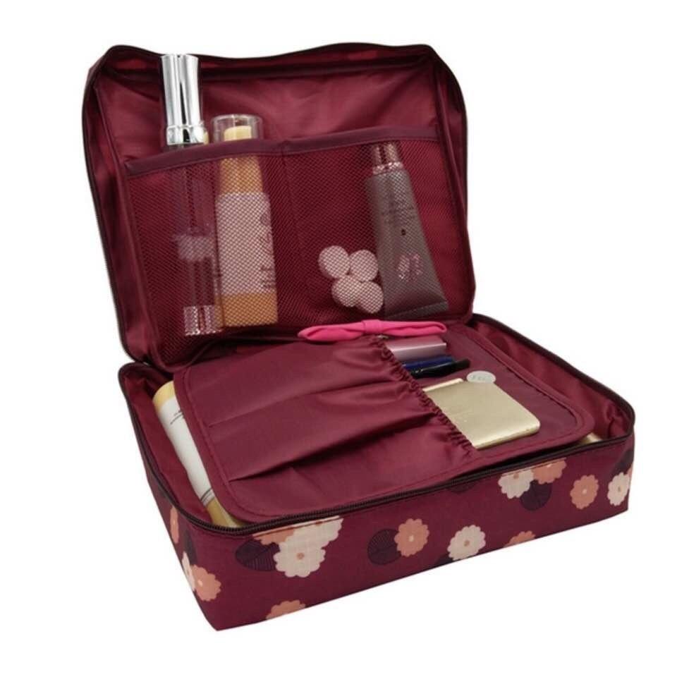 Túi đựng đồ cá nhân, mỹ phẩm khi đi du lịch Monopoly Travel hoa văn