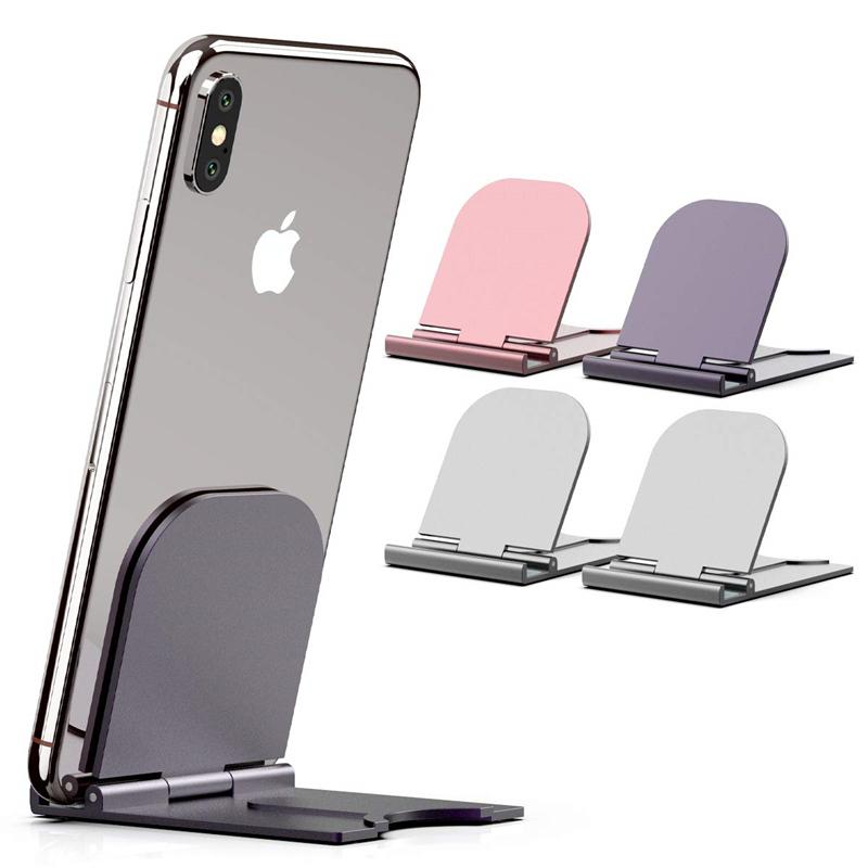 Giá đỡ điện thoại/ máy tính bảng để bàn dạng gập điều chỉnh được sáng tạo tiện lợi