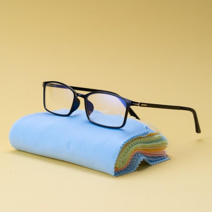 Gọng kính cận nhựa dẻo cho mặt tròn 4U, mắt vuông chống bụi hoặc lắp cận, màu đen – TN919