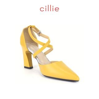 Giày cao gót mũi nhọn 7cm phối dây chéo Cillie 1141